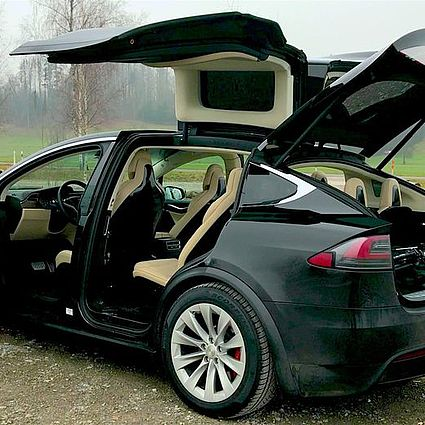 TESLA X On the Road
